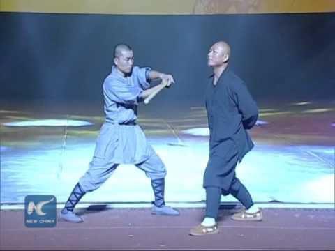 """Shaolin """"Iron Skill"""" Kung Fu: Monk breaks stick with neck"""